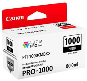 Image of   Matt sort blækpatron 1000MBK - Canon - 80,0ml.