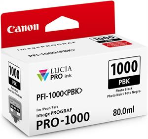 Image of   Foto sort blækpatron 1000PBK - Canon - 80,0ml.