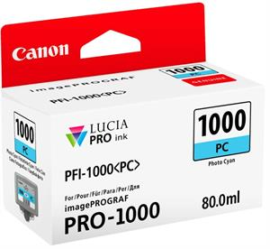 Image of   Foto cyan blækpatron 1000PC - Canon - 80,0ml.