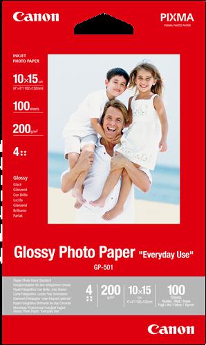 """Billede af Originalt glossy fotopapir 10x15  """"Everyday Use"""" 200gr - Canon - 100 ark"""