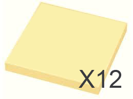 "Image of   12 x Gul ""post-it"" 75 x 75 mm"