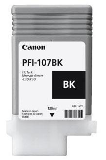Sort blækpatron 107BK 6705B001 - Canon - 130ml.