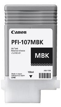 Mat sort blækpatron 107MBK 6704B001 - Canon - 130ml.