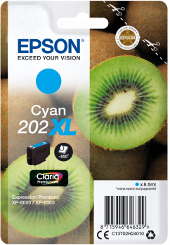 Image of   Cyan blækpatron 202XL - Epson - 8,5 ml.
