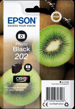 Image of   Foto sort blækpatron 202 - Epson - 4,1ml.
