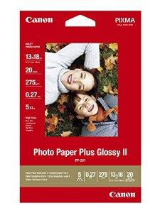 Image of   Photo glossy fotopapir Plus ll 13x18 - Canon 265gr. - 20 ark