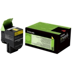 Image of   Gul lasertoner - Lexmark 24B6010 - 3.000 sider