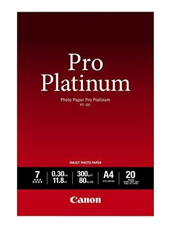 Image of   Pro Platinum fotopapir A4 - Canon - 300gr./20 ark