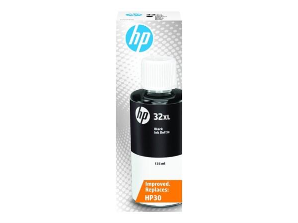 Sort blæk - HP nr.32XL - 135 ml.