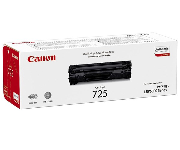 Image of   Sort lasertoner 725BK - Canon - 1.600 sider.