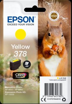 Image of   Gul blækpatron - Epson 378 - 4,1 ml