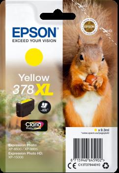 Image of   Gul blækpatron - Epson 378XL - 9,3 ml