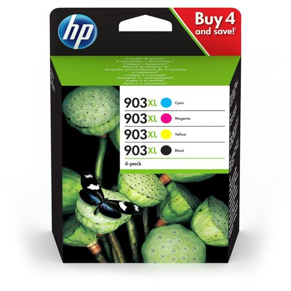 Image of   4-Pak B/C/M/Y patroner - HP Nr. 903XL - 4x825 sider