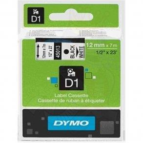 N/A – Sort på hvid 9 mm d1-tape (40913) på printerpatroner.dk