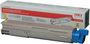 Gul lasertoner 33/34 mf - OKI - 2.500 sider.