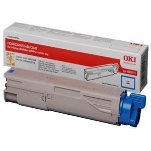 Cyan lasertoner 33/34 mf - OKI - 2.500 sider.