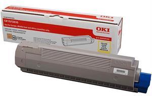 Gul lasertoner 810/830 - OKI - 8.000 sider