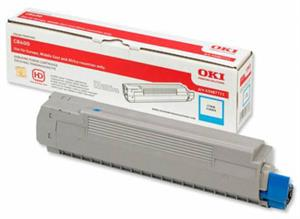 Image of   Cyan lasertoner C801 - OKI - 7.300 sider