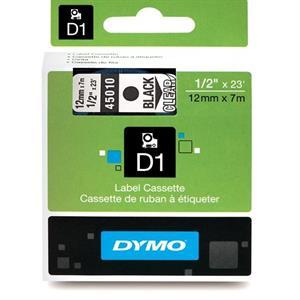 N/A – Sort på transparent 12 mm d1-tape (45010) fra printerpatroner.dk