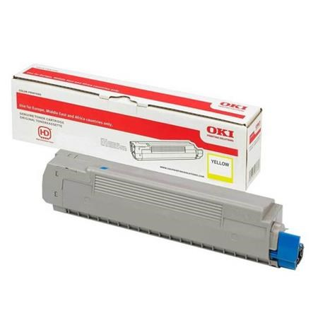 Image of   Gul lasertoner - OKI 46490401 - 1.500 sider