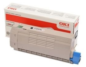 Image of   Sort lasertoner - OKI 46490608 - 7.000 sider