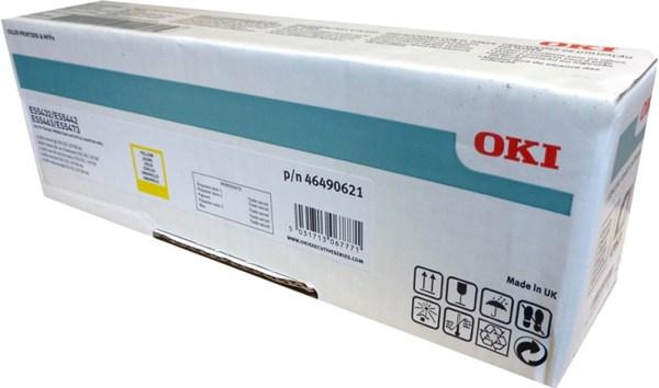 Image of   Gul lasertoner 46490621 - OKI - 6.000 sider