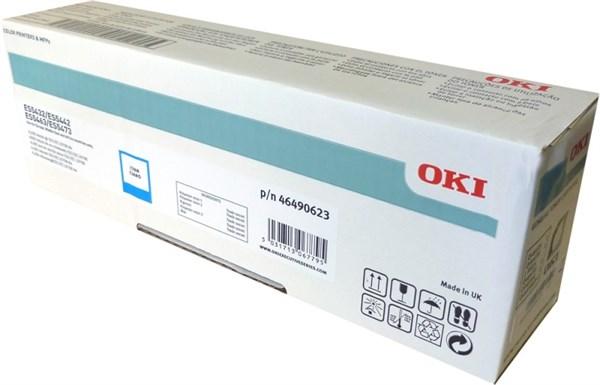 Image of   Cyan lasertoner 46490623 - OKI - 6.000 sider