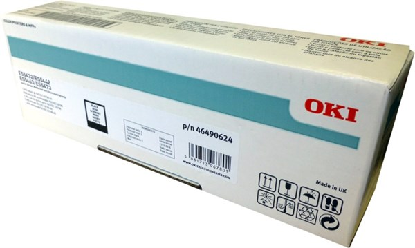 Image of   Sort lasertoner 46490624 - OKI - 7.000 sider