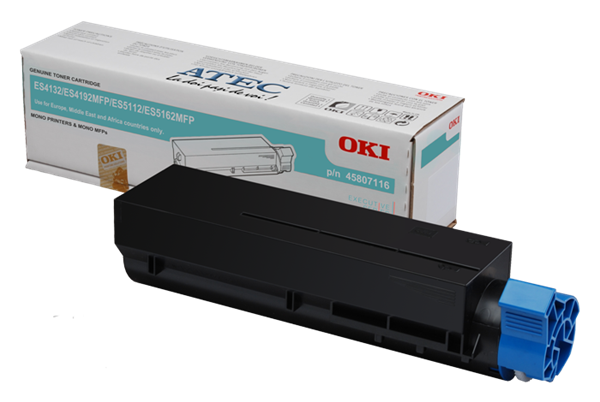 Image of   Sort lasertoner 45807116 - OKI - 12.000 sider.
