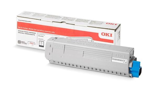 Image of   Sort lasertoner - OKI - 10.000 sider