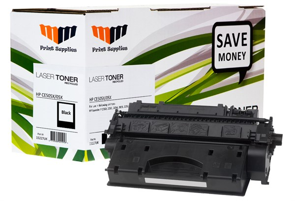 Image of   Sort lasertoner - HP nr.505X - 6.500 sider