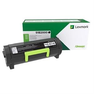 Image of   Sort lasertoner - Lexmark 51B2000 - 2.500 sider