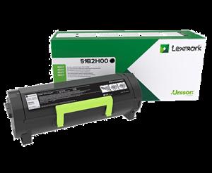 Image of   Sort lasertoner - Lexmark 51B2H00 - 8.500 sider