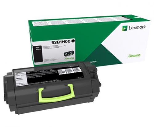 Image of   Sort lasertoner - Lexmark 53B2H00 - 25.00 sider
