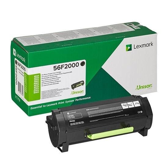 Image of   Sort lasertoner - Lexmark 56F2000 - 6.000 sider