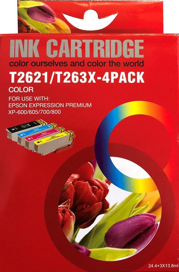 Image of   4-Pak B/C/M/Y patroner - Epson 26XL - 1x24,4+3x13,8 ml