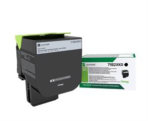 Image of   Sort lasertoner - Lexmark 71B2XK0 - 8000 Side