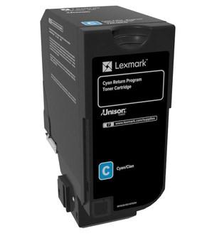 Image of   Cyan lasertoner - Lexmark 74C20C0 - 3.000 sider