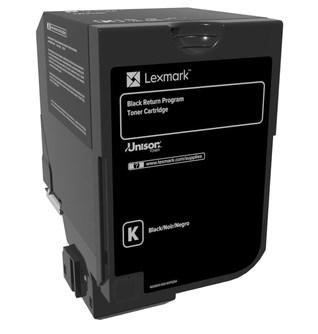 Image of   Sort lasertoner - Lexmark 74C20K0 - 3.000 sider