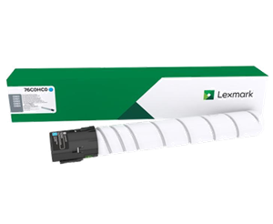 Image of   Cyan lasertoner - Lexmark 76C00K0 - 18.500 sider