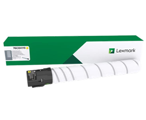 Image of   Gul lasertoner - Lexmark 76C0HY0 - 34.000 sider