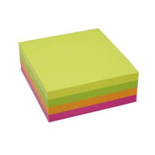 Image of   Notes StickN NEON Cube 4 ass. neon farver 76x76mm 320 ark