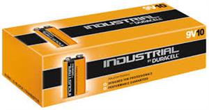 Industrial Duracell - 9v batterier - æske m. 10stk.