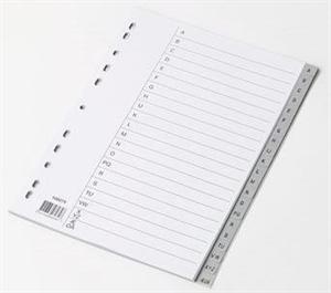 A4 Register grå plast A-Å