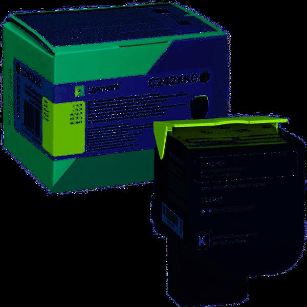 Image of   Sort lasertoner - Lexmark C242XK0 - 6.000 sider