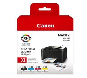 Image of   4-Pak B/C/M/Y patroner - Canon PGI-1500BCMY - 37,7+3x12ml