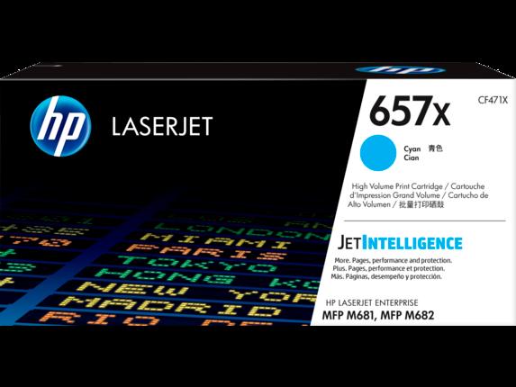 Image of   Cyan lasertoner Nr.657X - HP - 23.000 sider