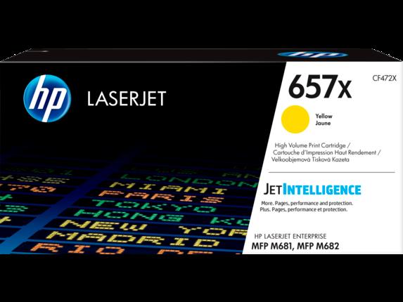 Image of   Gul lasertoner Nr.657X - HP - 23.000 sider