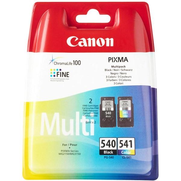Image of 2-Pak sort og farvet patron - Canon 5225B006 - 2x8ml.