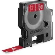 Hvid på rød 12 mm d1-tape fra N/A fra printerpatroner.dk
